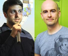 Left: Tony Bacigalupo, Right: Jacob Sayles